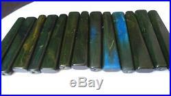 Antique American Blue Moon Catalin Bakelite 13 bars 9 mm / 164 gram