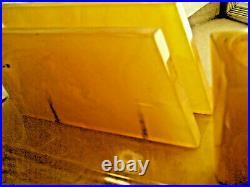 Antique Art Deco Catalin Butterscotch Bakelite Desk Top Set Envelope Knife'1930