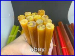 Antique Old Amber Bakelite Catalin Butterscotch Cherry Prayer Veined Rods 3619 g