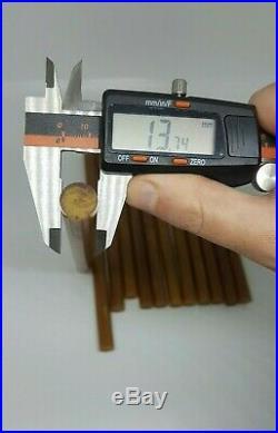 Antique Old Amber Bakelite Catalin Butterscotch Prayer Veined Rod 220 mm / 458 g