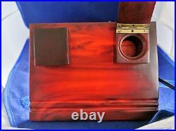 Antique Old Amber Bakelite Catalin, Desk Set, Desk Top, Stand 530 gr