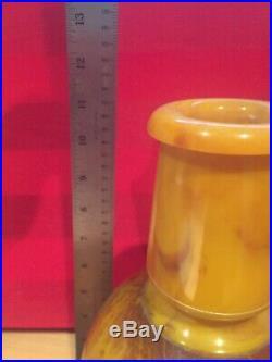 Antique Vintage Butterscotch Amber Bakelite Vase Catalin One Piece