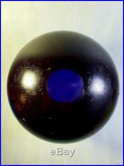 Antique Vintage Old Amber Bakelite Catalin Ball Dice Rod Block Blue 2810gr