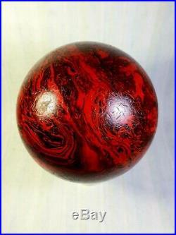 Antique Vintage Old Amber Bakelite Catalin Ball Dice Rod Block Cherry Marble
