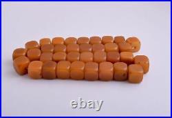 Antique butterscotch Bakelite Yemen Amber cube beads Necklace-297 gram