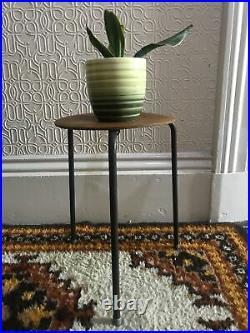 Arne Jacobsen dot stool Fritz Hansen Stool Teak Plant Stand Danish Mid Century