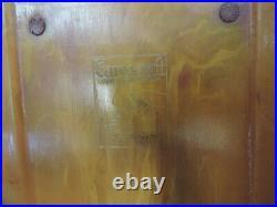 Art Deco Carvacraft Bakelite/Phenolic Amber/Butterscotch Notepad/Pad Holder