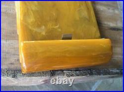 Art Deco Carvacraft Bakelite Phenolic Butterscotch Amber Notepad Holder