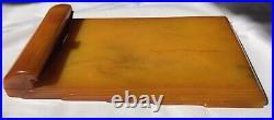 Art Deco Carvacraft Bakelite Phenolic Butterscotch-Amber Notepad Holder BP 503