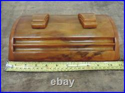 Art Deco Carvacraft Bakelite/Phenolic/Catalin Amber/Butterscotch Double Inkwell