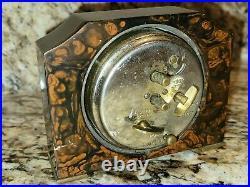 Art Deco MARBLED SWIRLED CATALIN 1930 Seth Thomas CLOCK BAKELITE old vtg antique