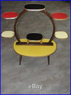 Atomic Age Mid Century Multicolour Plant Stand Display Table 50s VTG Retro 60s