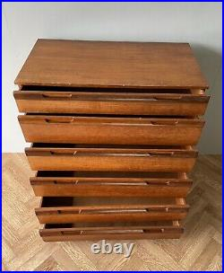 Avalon Vintage Retro MID Century Chest Of 6 Drawers Uk Delivery Available