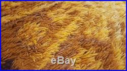 Awesome RARE Vintage Mid Century retro 70s Rya funky shag round sunburst rug