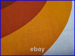 Awesome RARE Vintage Mid Century retro 70s Tampella org brn curve wave fabric