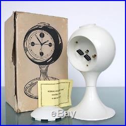 BLESSING Mantel Alarm CLOCK Pedestal Space Age RETRO Vintage Mid Century Germany