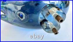 BLUE Pulcino Vistosi Alessandro Pianon Murano Glass Bird Cooper Legs