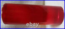 Bakelite Catalin rod 2 x 5 polished dice Prystal red 331 gr USA vintage