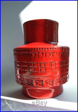 Bitossi Rimini Blu Italy ceramic vase 1960s Londi retro vintage midcentury RED