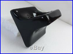 Black Ceramic Toothbrush Tumbler Cup Holder Vintage Mid Century Modern Retro