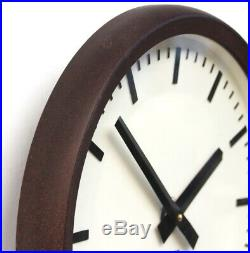 CZECH 1970s Vintage Wall Clock Eastern Bloc Midcentury Retro Industrial Factory