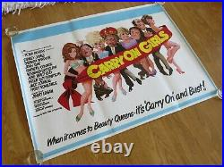 Carry On Girls Original 1973 British Uk Cinema Movie Quad Poster Rolled Unused
