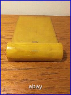 Carvacraft Art Deco 1940's bakelite notepad holder with original clip