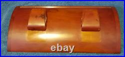 Carvacraft Art Deco Amber/Butterscotch Bakelite Double Inkwell