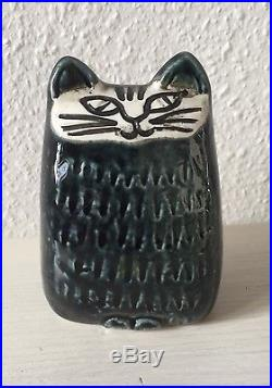 Cat Lisa Larson Gustavsberg Mars-Liv Dark Blue