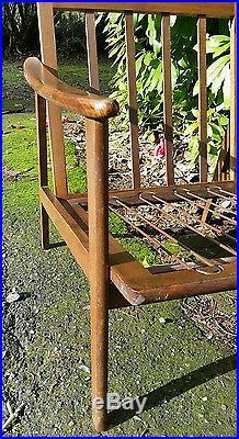 Danish Mid Century Modern Teak Wood Lounge Chair Stamped