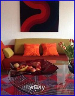 Danish modern 100% AUTH Verner Panton Geometri 1 Fabric Pop Art Space Age