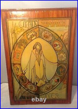 David Palladini signed 1969 Zodiac Four seasons on wood Greg Wallace Productions