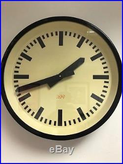 EAST GERMAN 1960s Eastern Bloc Midcentury Factory Retro Vintage Industrial Clock