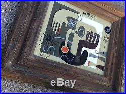 El Gato Gomez Painting Retro MID Century Modern Abstract Googie Eames Era 1950s
