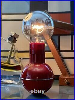 Enzo Mari Red Dumbbell Lamp Kartell Guzzini Era Design