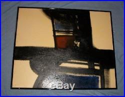 Eugene Swearingen Oil On Board Painting MID Century Modern Retro Home Decor Vtg