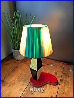 Fab Rare 1950's Harlequin Formica Kidney Shape Table Lamp Base Retro Kitsch MCM