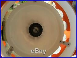 Fab Vintage Retro Brutalist Mid Century Steel Copper Ceiling Light Lamp Shade