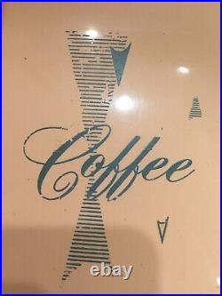 Federal Vtg Atomic Mid-Century Retro Pink Canisters Flour Sugar Coffee Tea