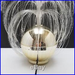 Fiber Optic Lamp Rotating Fountain Orb VIDEO Retro Vintage Mid Century