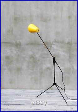 Floor lamp mid-century modern design, 50s 60s vintage retro lamp, R87