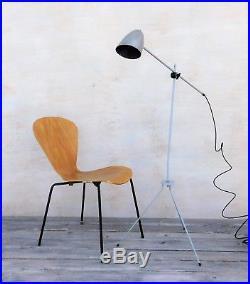 Floor lamp mid-century modern design, 50s 60s vintage retro lamp, R90