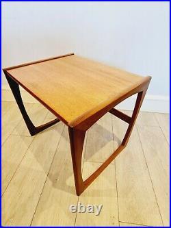 G Plan Quadrille Teak Nest Of Tables Retro 1970s Vintage Mid Century Modern MCM