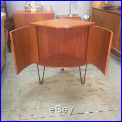 G Plan Vintage Retro Mid-Century Teak Corner Unit Cabinet Hairpin Legs