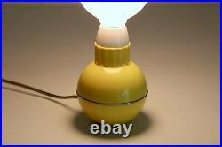 George Kovacs Vtg Mid Century Modern Retro Plastic Ball Wobble Table Lamp Light