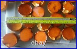 German Antique Bakelite / Catalin Blocks Patina 600gram yellow gold round rod