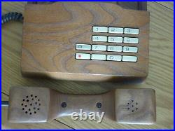 Gfeller Trub Solid Wood Telephone Vintage 1970s Wooden Push Button Phone Works