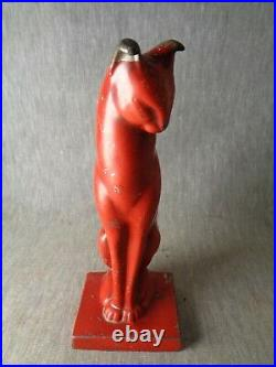 Girly-Girly Cat. Cat is 1-in-a Million. Rare Art Deco Red Frankart Cat