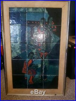 Harris Strong tile art 50s retro, mid century, huge vintage rare abstract