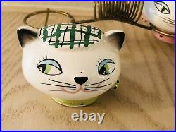 Holt Howard Cozy Kitten Salt & Pepper Napkin Holder